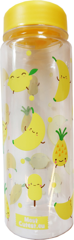 Drinkfles MostCutest.nl Yellow Happy Fruits