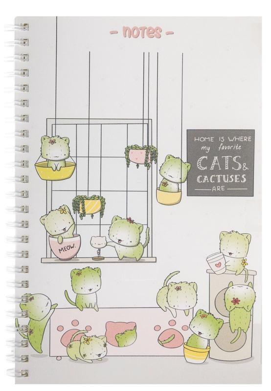 Notebook A5 - Cactus Cats - Cutiesquad