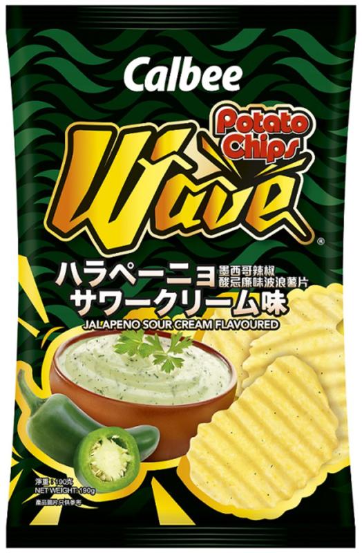 Calbee Wave Jalapenõ Sour Cream Potato Chips (190gr)