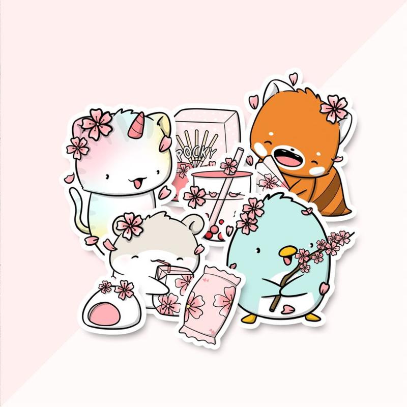 Stickerset - Sakura - CutieSquad