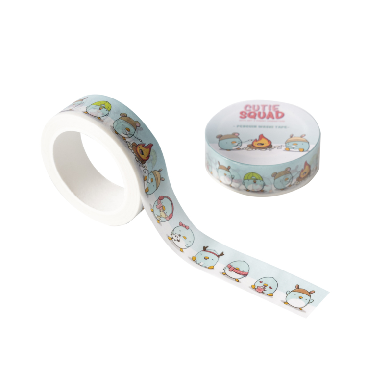 Washi tape - Kawaii Penguins CutieSquad