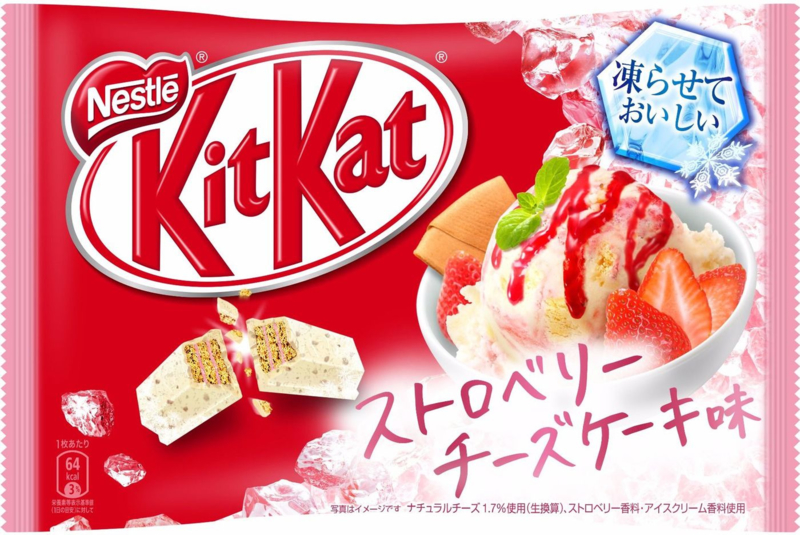 KitKat mini Freezable - Strawberry Cheesecake - zak 13 stuks
