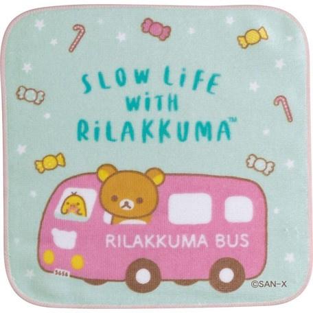 Mini Handdoekje 21 x 21 cm Rilakkuma Bus
