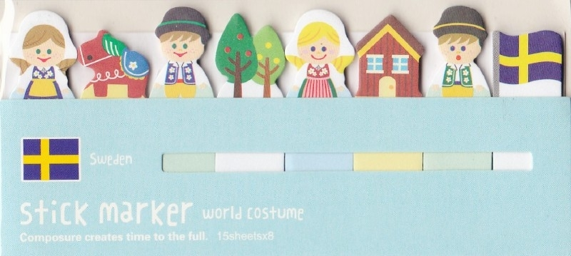 Sticky Notes  World Costume -  Sweden