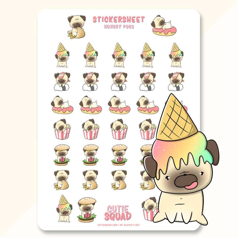 Stickervel - Teddy Dogs - CutieSquad