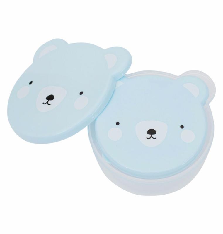 Kawaii bakjes Bear Blue (4 stuks)