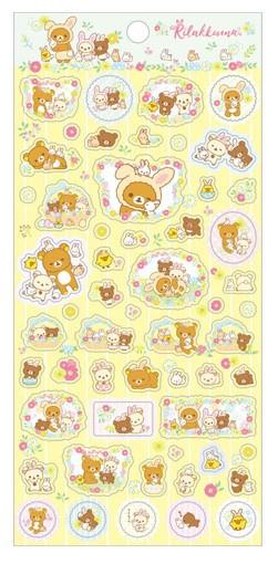 Aufkleber San-X Rilakkuma Cute Rabbits yellow