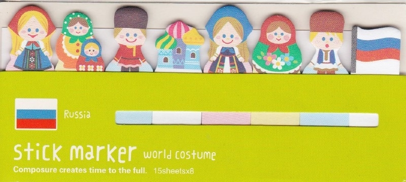 Sticky Notes  World Costume -  Russia