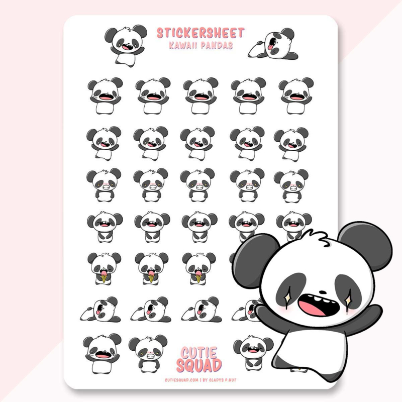 Stickervel - Kawaii Panda - CutieSquad