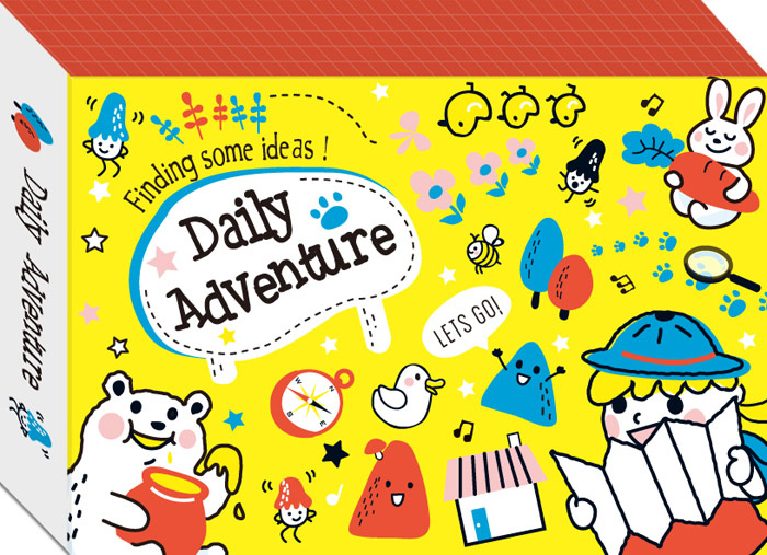 Memokaartjes in doosje - Daily adverture geel