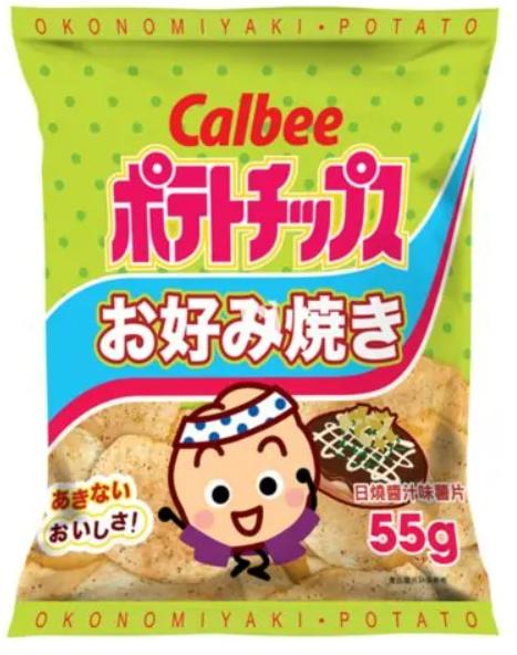 Calbee Okonomiyaki Potato Chips