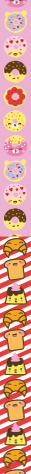MostCutest.nl Kawaii Lucky Star Papier - Donut Croissant
