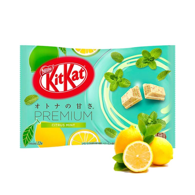 KitKat mini Premium Citrus Mint & White Chocolate - zak 12 stuks