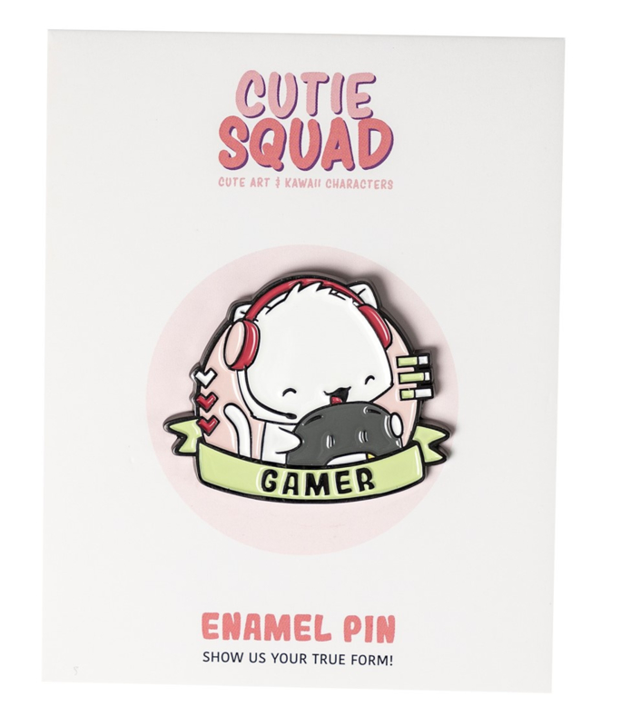 Cutiesquad Enamel Pin - Cat Gamer