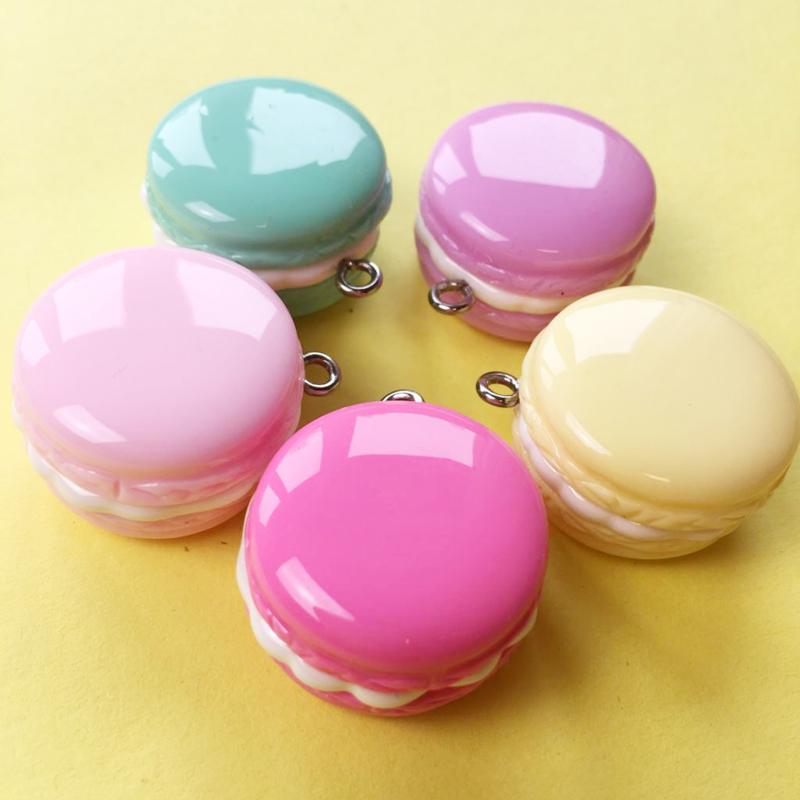 DIY Cute Macaron Charms - 5 stuks