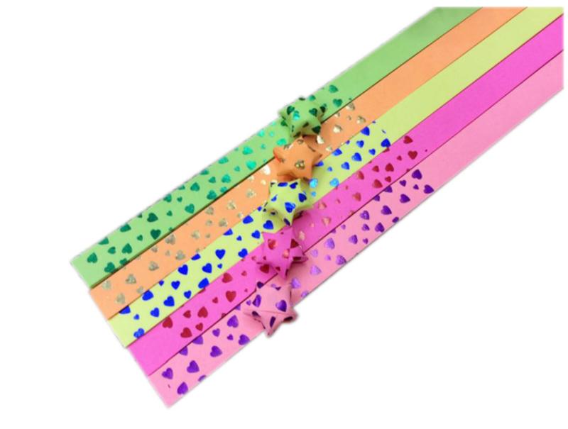 Lucky Star papier Neon Hearts