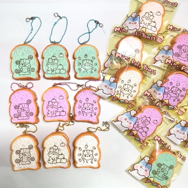 Squishy Mini Poli Fat Toast- Pick one