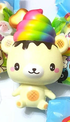 Squishy Yummiibear Mascot - Rainbow