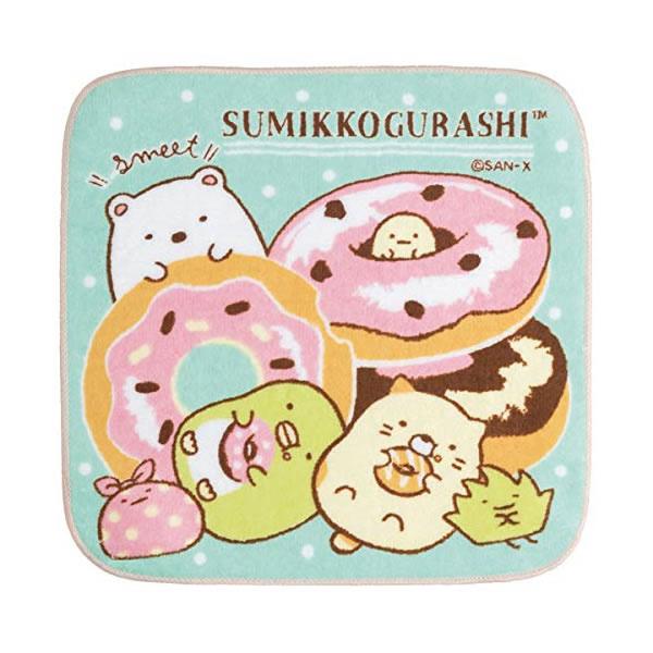 Mini Handtuch 21 x 21 cm Sumikkogurashi donuts
