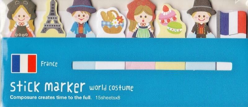 Sticky Notes  World Costume -  France