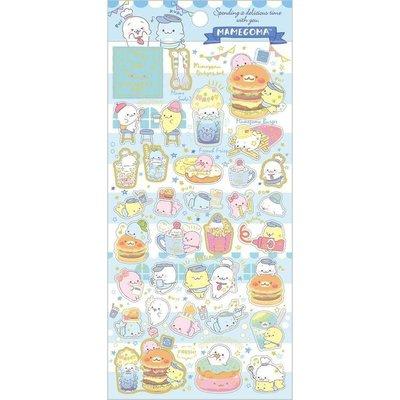 Seal stickers San-X Mamegoma Café - Blue