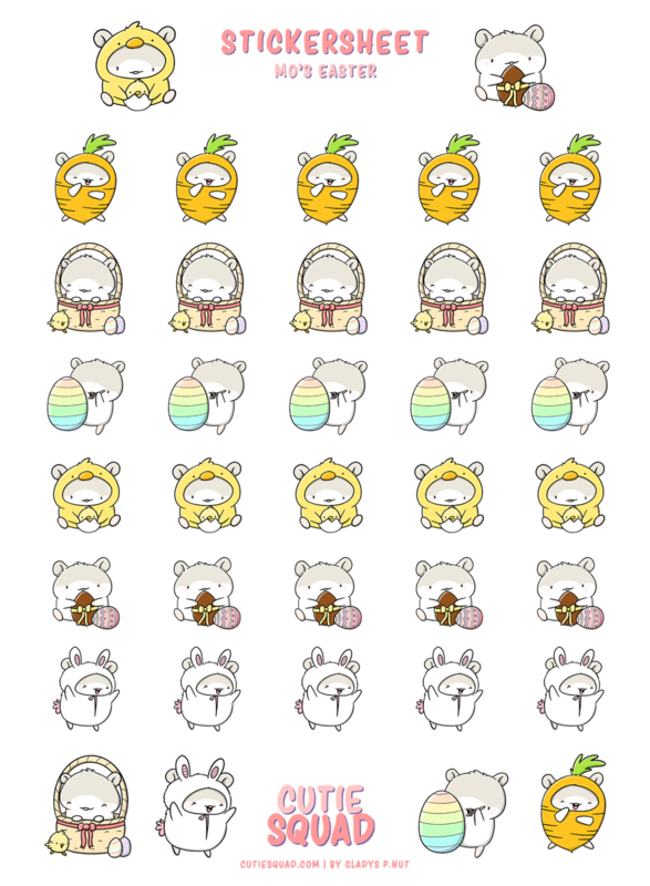 Stickervel - Mo's Easter - CutieSquad