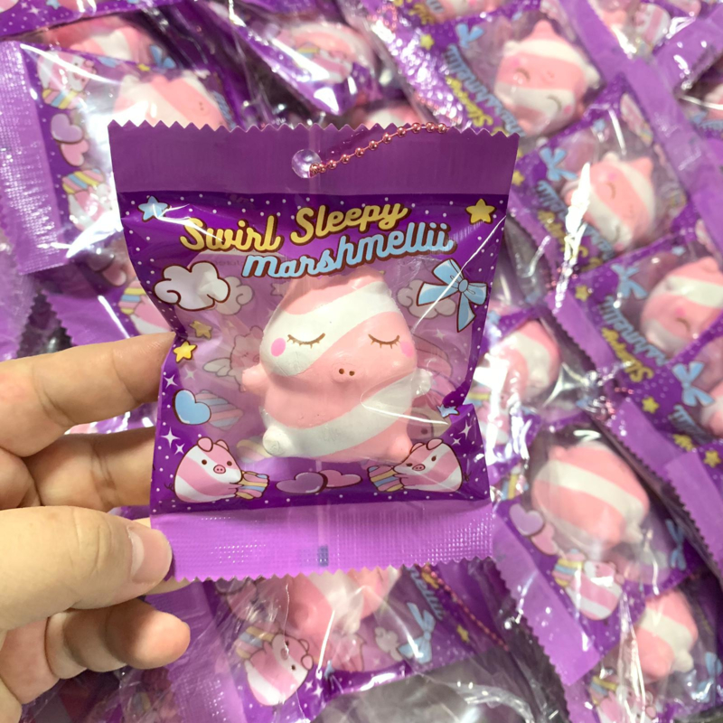 Mini Marshmellii Pink Swirl Squishy
