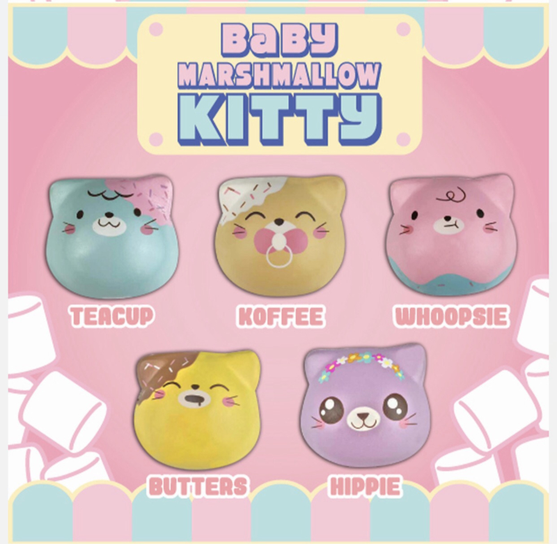 Squishy Puni Maru Baby Marshmellow Kitties - pick one