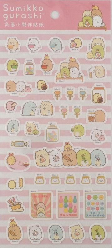 Stickersheet Sumikkogurashi  pink 2