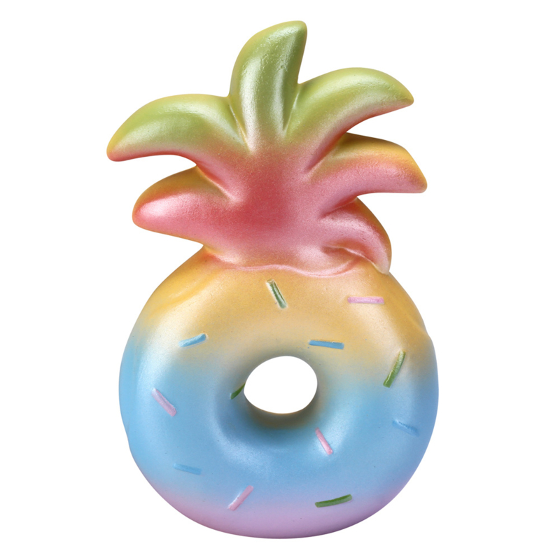 Squishy Pineapple Donut - Tropical