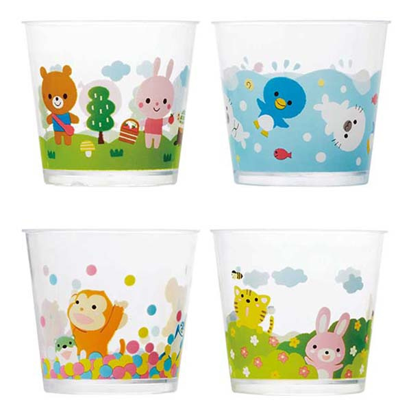 Plastic Party Cups Animals (transparant)