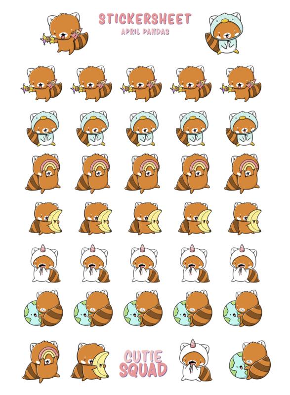 Stickervel - Red Panda April - CutieSquad