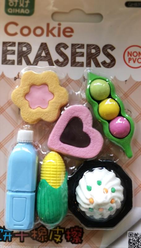 Radiergummi Set Pastel Food