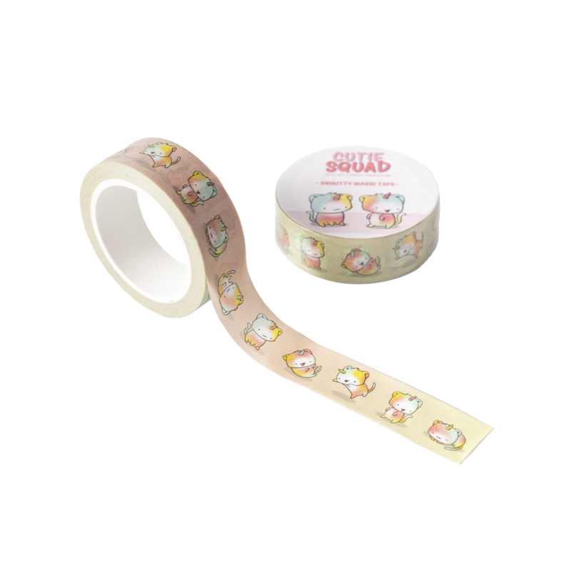 Washi tape - Kawaii Unikitties CutieSquad