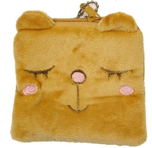 Plushie portemonnee square bear
