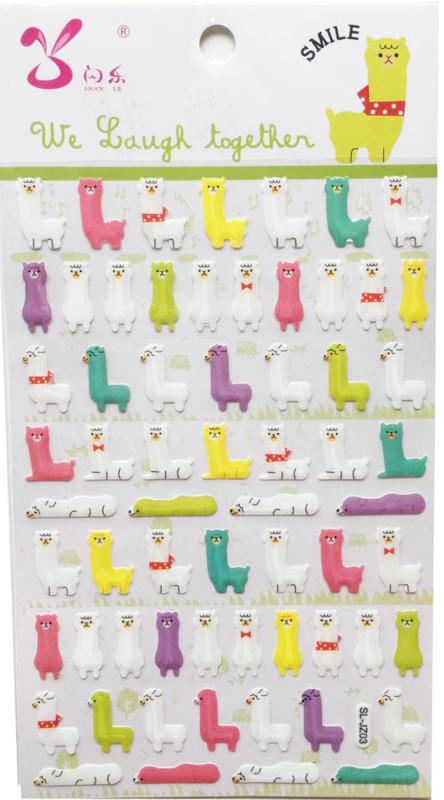 Kawaii Aufkleber PVC Alpaca