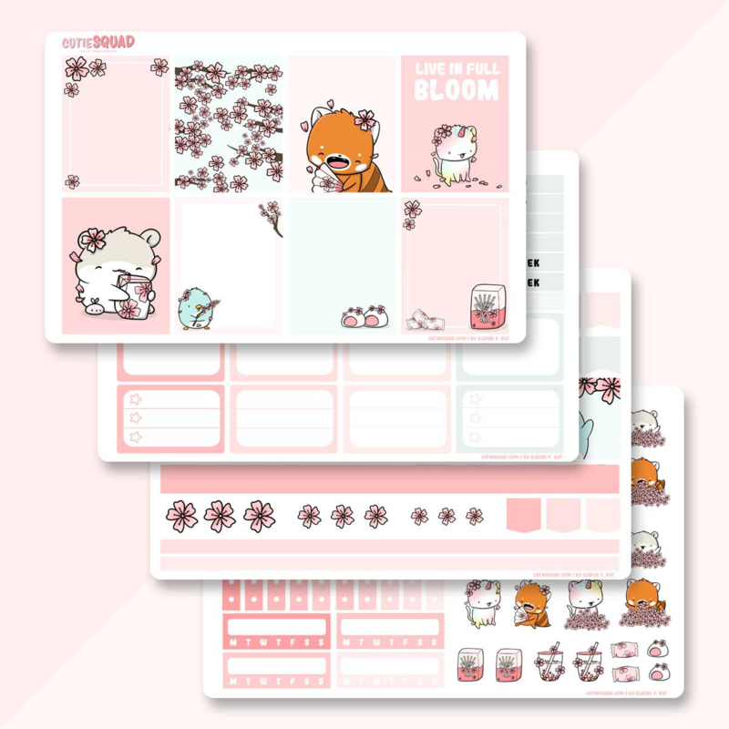 Planner Sticker Kit - Sakura - CutieSquad