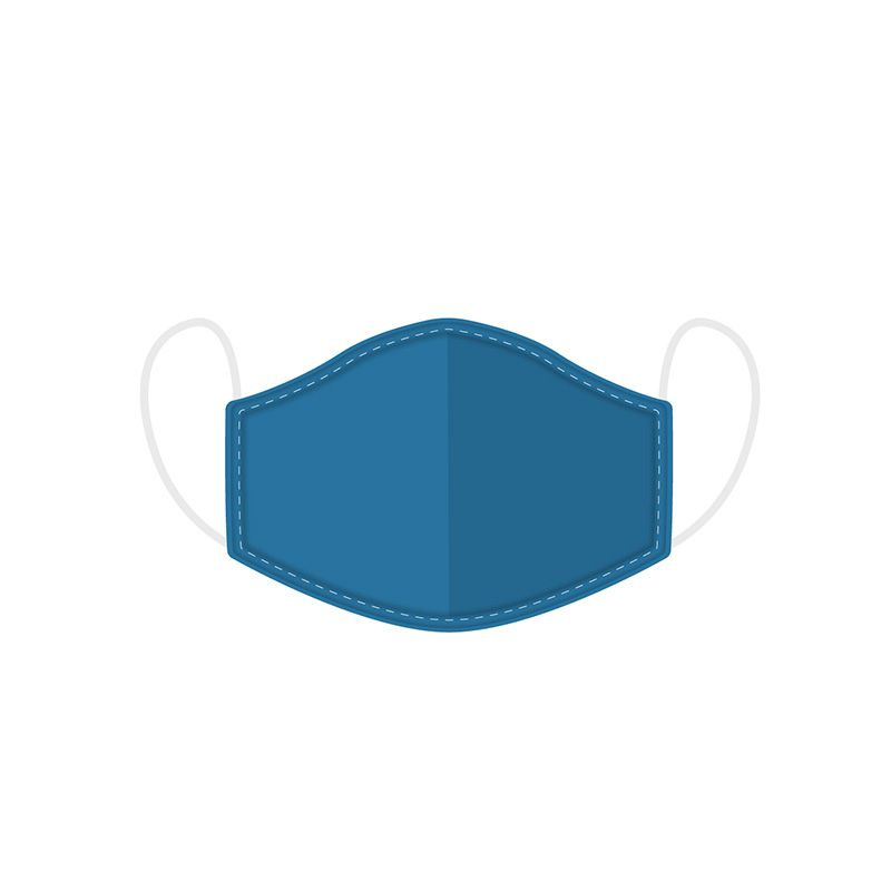 Süße Mund-Nasenmaske - Blau
