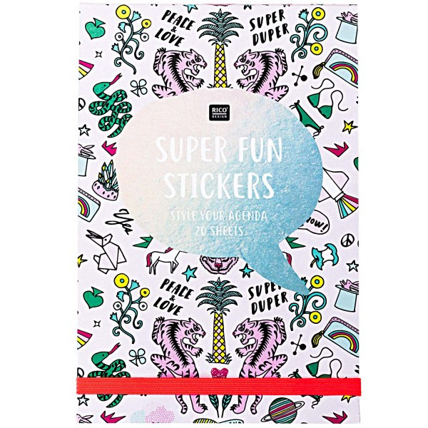 Aufkleber Stickerbuch Super Fun Rosa