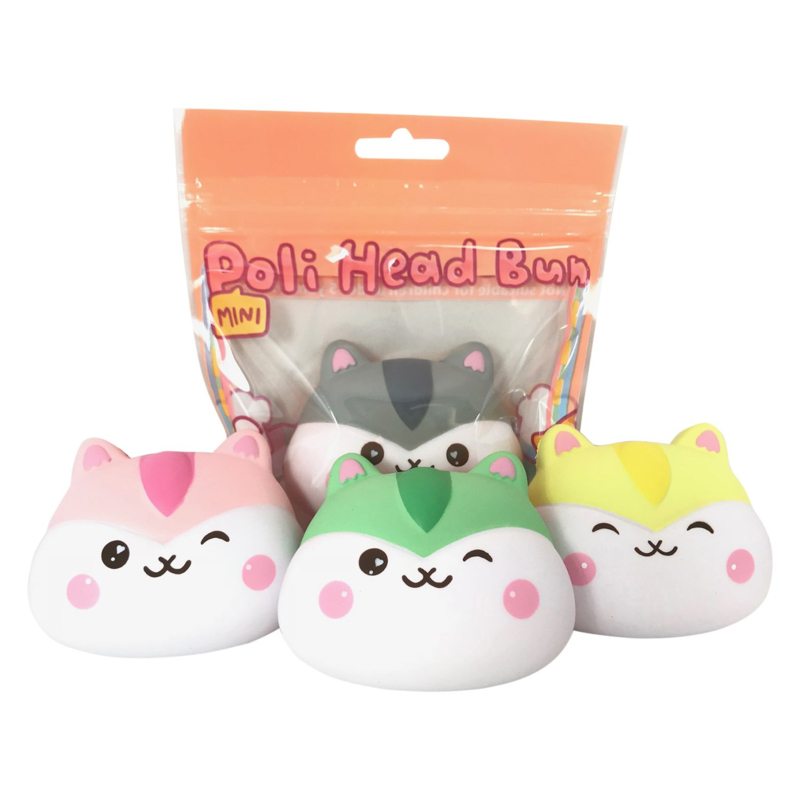Squishy Poli Mini Head Bun - Pick one