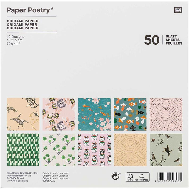 Origami papier 15 x 15 cm - Japan
