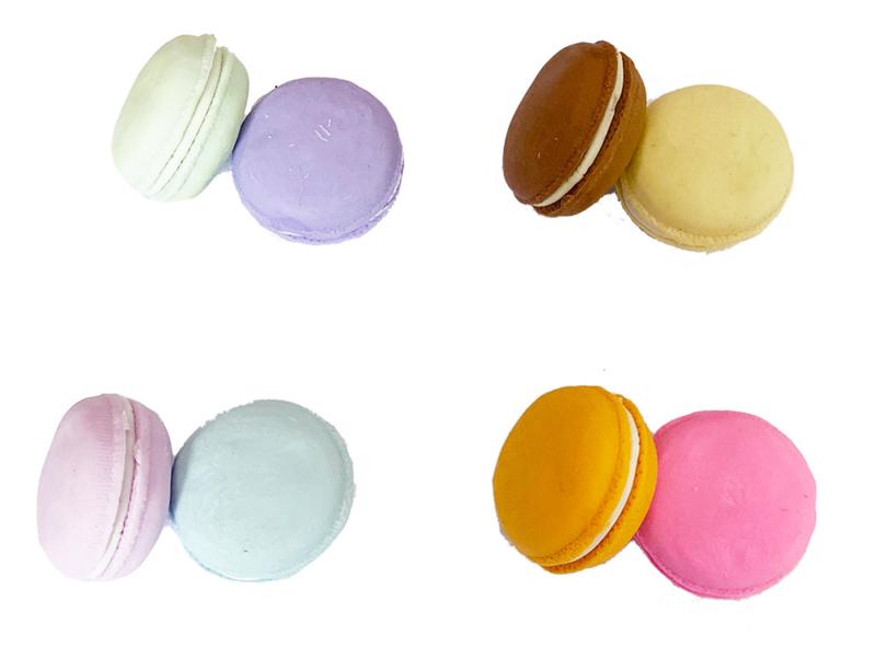 Kawaii Macaron Eraser - 2 pcs set - pick a color
