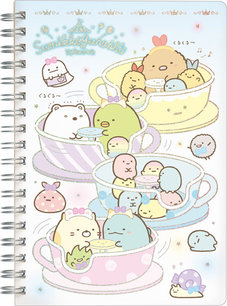 Notizheft Sumikkogurashi Tapioca Park Teacups