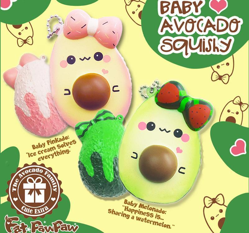 Squishy-Anhänger Baby Avocado
