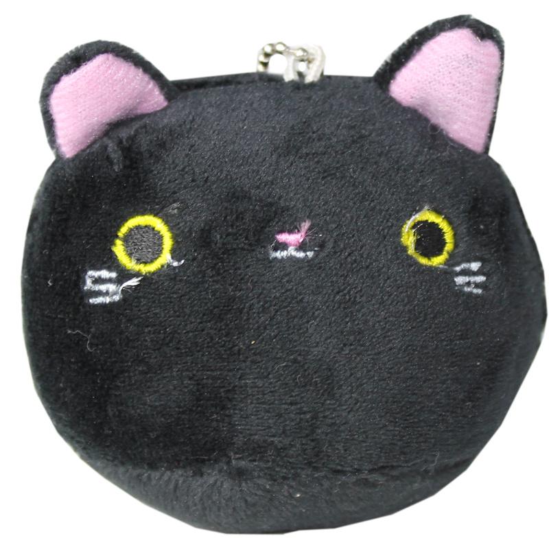 Plushie Kawaii cat - zwart