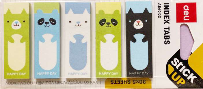 Stickynotes Green & Blue Animals