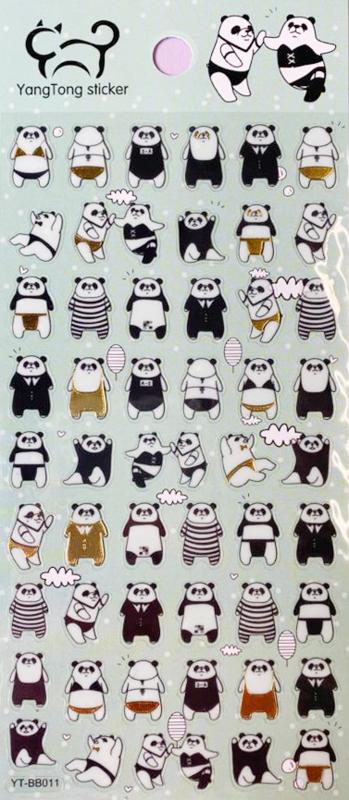 Aufkleber mit Panda