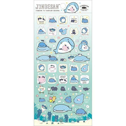 Stickervel San-X Jinbesan  Jinbe life