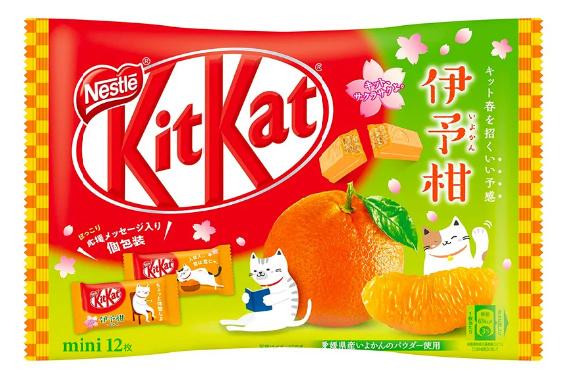 KitKat mini - Iyokan Mandarin - zak 12 stuks