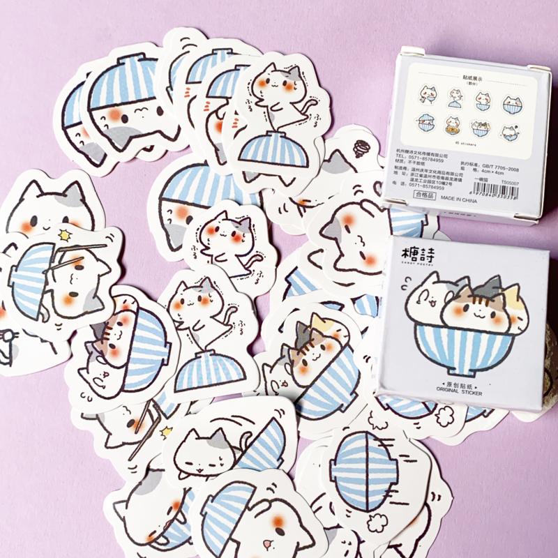 Aufkleberbox Cats
